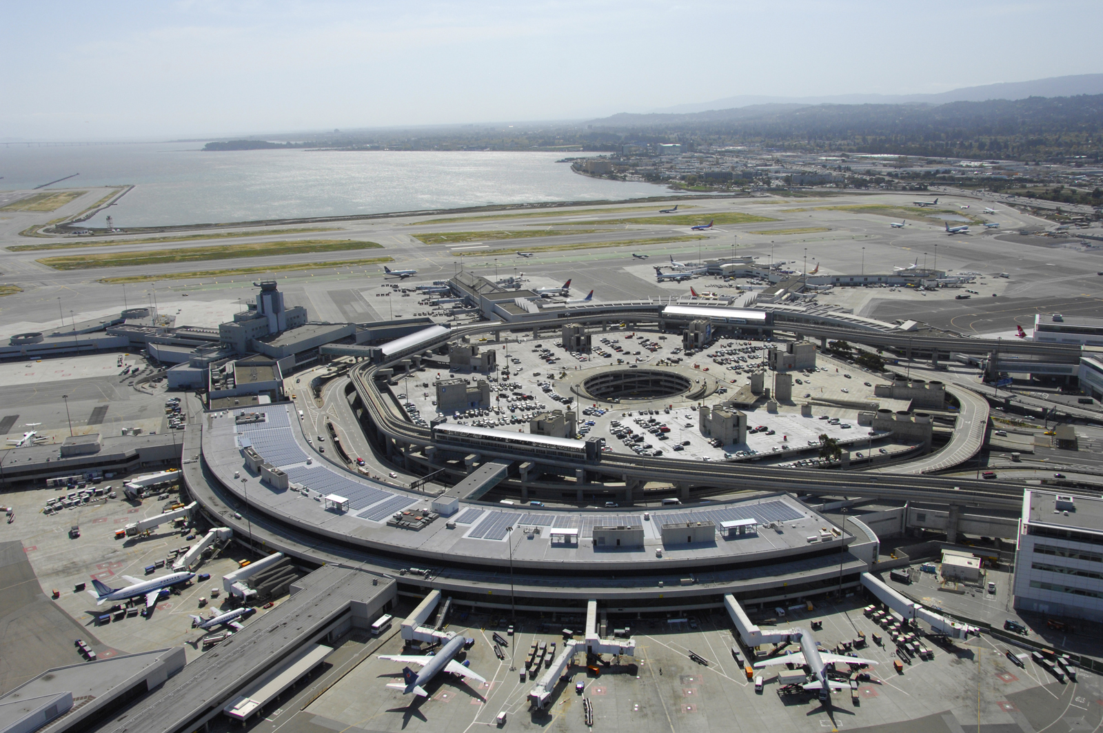 San Francisco International Airport Terminal 3 Solar Array, San Francisco, CA, solar array, structural engineering, Interactive Resources