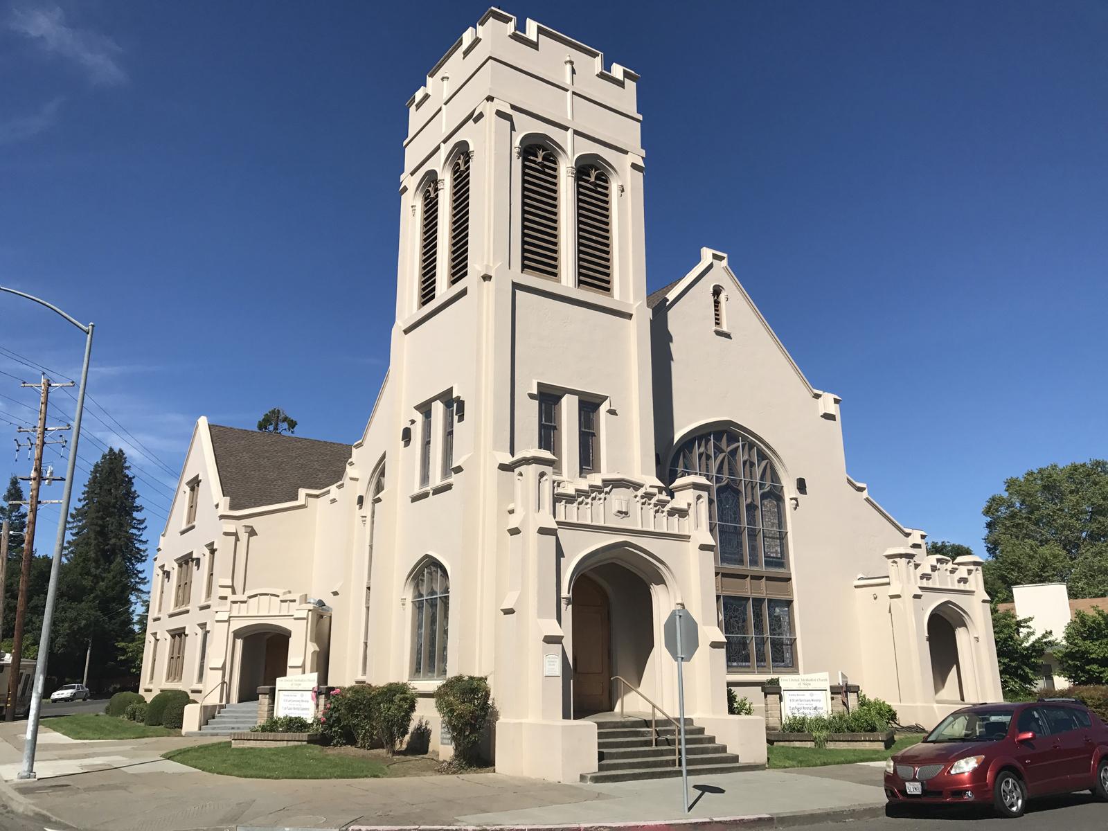 First United Methodist Church Post Earthquake Seismic Retrofit, Napa, CA, historic restoration, Interactive Resources, architectural design